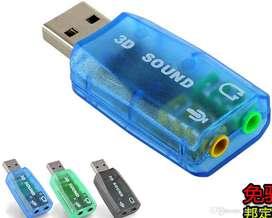 TARJETA DE SONIDO USB.. EXCELENTE CALIDAD