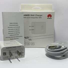 Cargador súper carga De Pared Huawei Usb-C 9v 2a 18w - Blanco