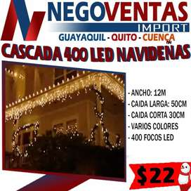 Cascada led de 400 luces navideñas decorativas