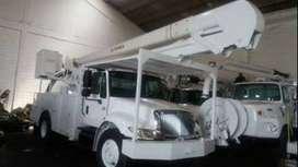 alquiler de camiones canastas y grúas dieléctricas