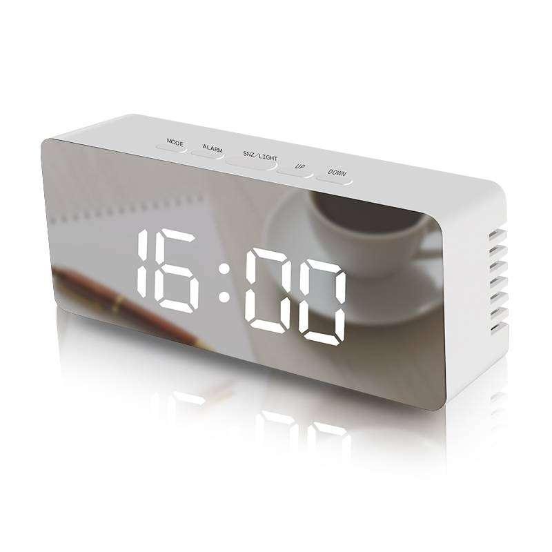Reloj Digital LED despertador termómetro tipo espejo para el hogar u oficina