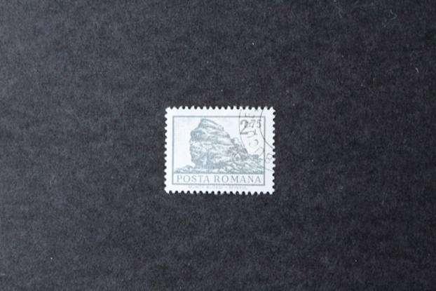 ESTAMPILLA RUMANIA, 1972, MONTAÑAS BUCEGI - LA ESFINGE, USADA 0