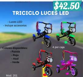 Triciclo con luces led