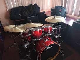 Bateria Pearl Vision Birch+zildjian Avedis+eames Master Snare