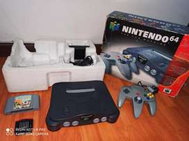 Nintendo 64 en caja perfecto para coleccionar