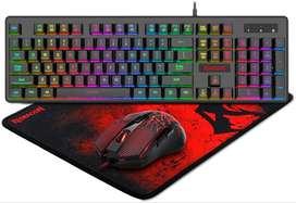 Combo Gamer Set 3en1 Redragon S107: teclado raton y  mousepad