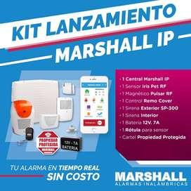 Kit Alarma Marshall Ip - Modulo Ip - Central Wifi - Sensor Magnético Inalambrico