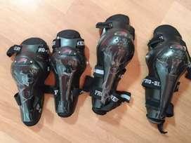 Artículos de protección, incluye coderas, rodilleras y botas