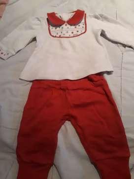 Conjunto rojo de bebe