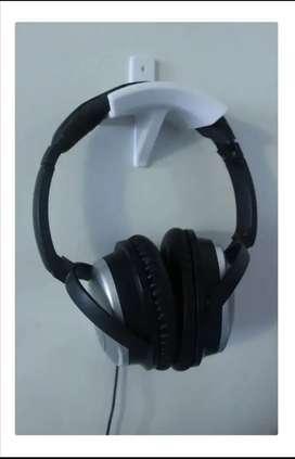 Soporte de pared para audifonos de diamea o cascos