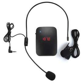 Microfono inalambrico diadema y de solapa por frecuencia fm wireless uso profesional o amateur