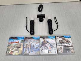 2 Play Station Move y  Play eye + 4 juegos originales