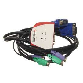 Cable Switch KVM PS2 VGA Para poder utlizar: 2 PC CON 1 SOLO MONITOR!