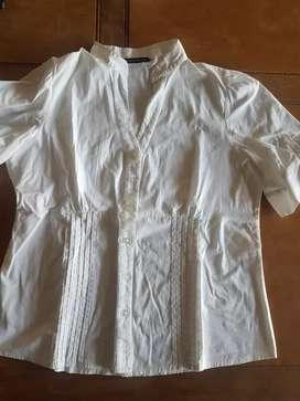 Camisa blanca con alforcitas xl
