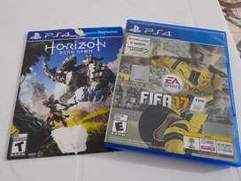 FIFA 17 y Orizon PS4