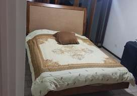 Cama madera Queen size y Colchn Ortopdico con Pillow Top