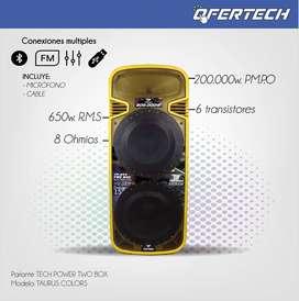 Parlante amplificado doble bocina Tech Power