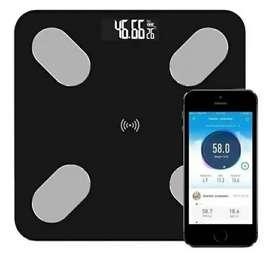 Pesa balanza bascula digital inteligente con bluetooth para medir peso corporal