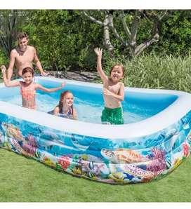 Piscina familiar inflable intex gigante para niños