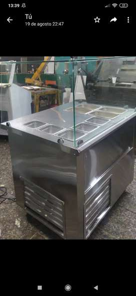 Mesón refrigerado con cabina  x metro