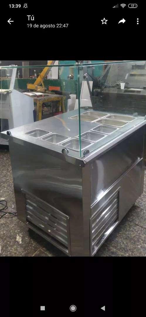Mesón refrigerado con cabina  x metro 0
