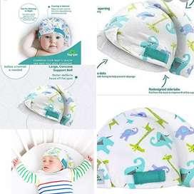 Gorro para bebes para corregir la cabecita plana de los bebés y tortícolis cuando duerme de un solo lado