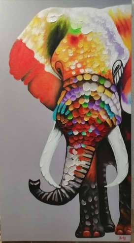 Elefante al oleo
