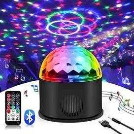 Parlante musica bola disco luz led iluminacion