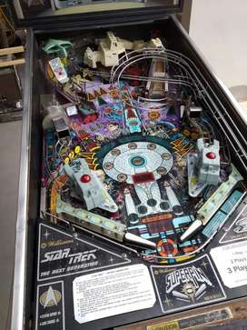 Flipper pinball Star Trek the next generation. Original rutinado con leds