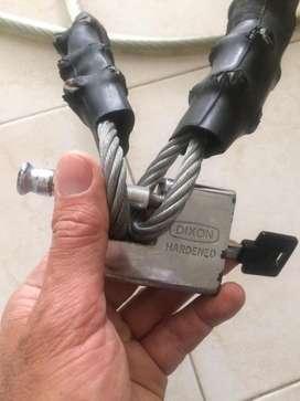 Cable con candado En Venta