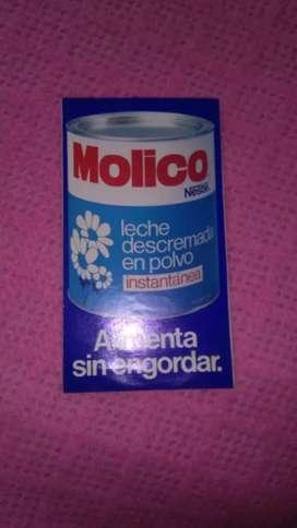 Antiguo folleto tríptico leche en polvo Molico Nestle 1970s