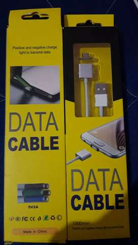 Cable de datos tipo v8 entrada  imantada