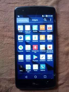 Vdo LG K8 libre detalle pantalla marcada