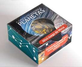 Conquistadores de Planetas - Minijuego de mesa educativo con barajitas