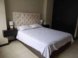 rento departamento amoblado bellini  1 habitacion puerto santa ana, guayaquil