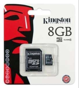 Memoria micro sd kingston 8GB!! ORIGINAL!!