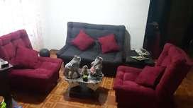 Sala sofacama 3 sillas, gangazo