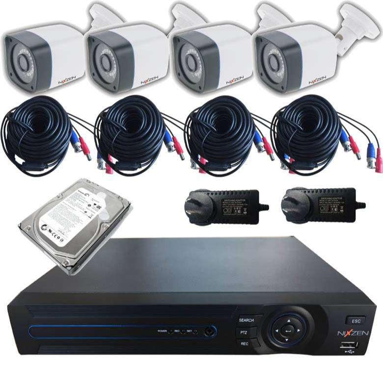 Kit de 4 cámaras de video vigilancia! En tiempos difíciles, precios accesibles. 0