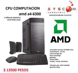 CPU COMPUTACION AMD 6300 TURBO  3 AÑOS DE GARANTIA