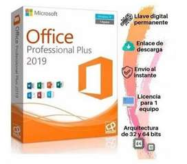 LICENCIA OFFICE 2019 DIGITAL - ENTREGA INMEDIATA
