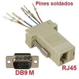 Adaptador Db9 RS232 Macho a RJ45 PCCOM SYSTEMS Buenos Aires Centro