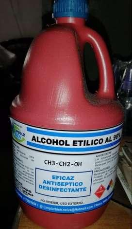 Alcohol Etílico al 96% Galón x 3800 ml
