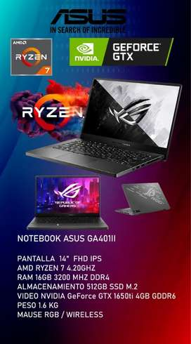 Laptop Asus Ryzen 7 GTX 4gb