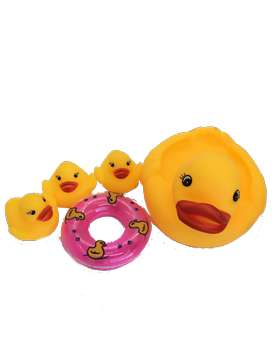 Patos de hule baño agua