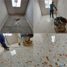 Hechura de piso en granito y venta de baldosas