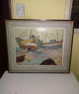 Cuadro de Barco, pintor lolich