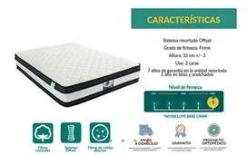 Vendo colchón dormiluna como nuevo 2x2 semiortopedico