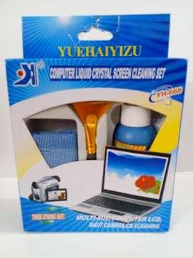 Kit de limpieza de pantallas Tv, celulares, monitores, camaras