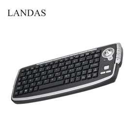Mini teclado inalámbrico de 2,4G con Trackball