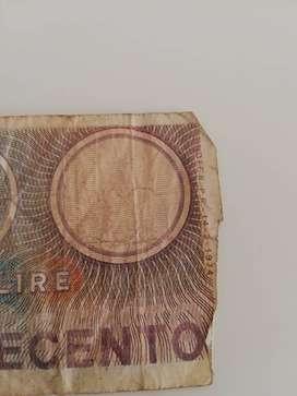 Billete de 500 liras de Italia de 1974